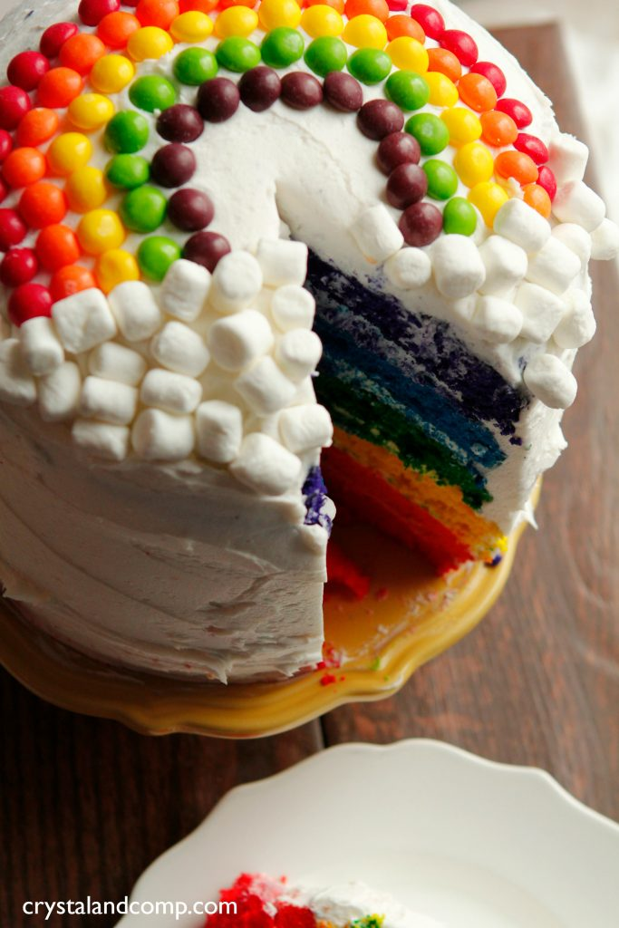 How To Make A Rainbow Cake Crystalandcomp Com