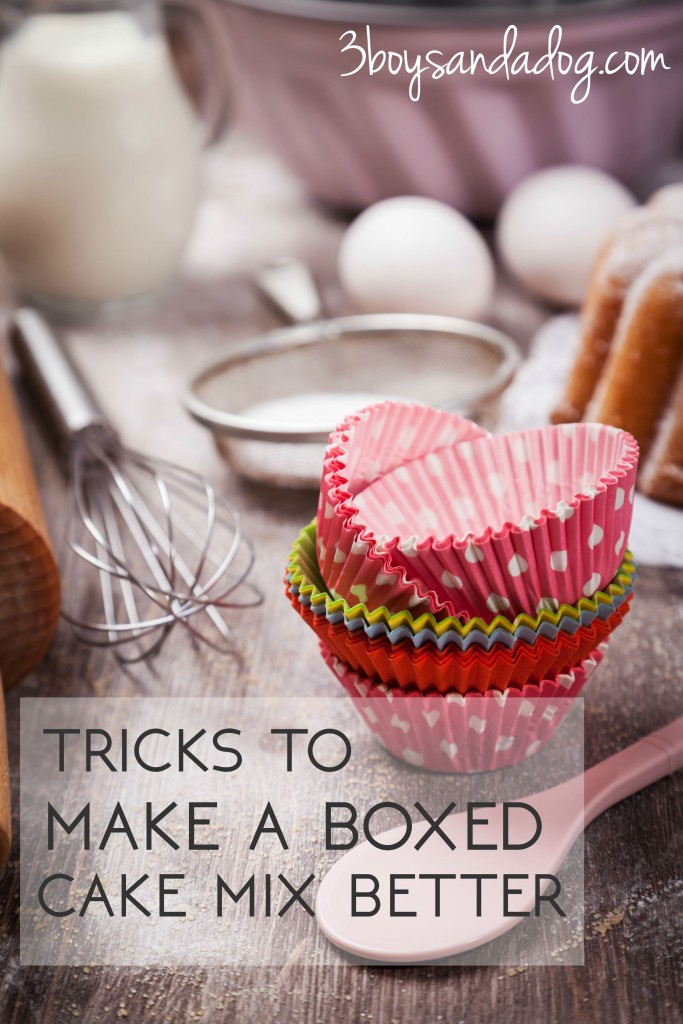 tricks to make a boxed cake mix better