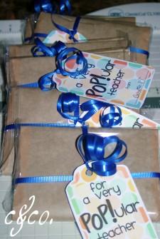 teacher popcorn bag gift