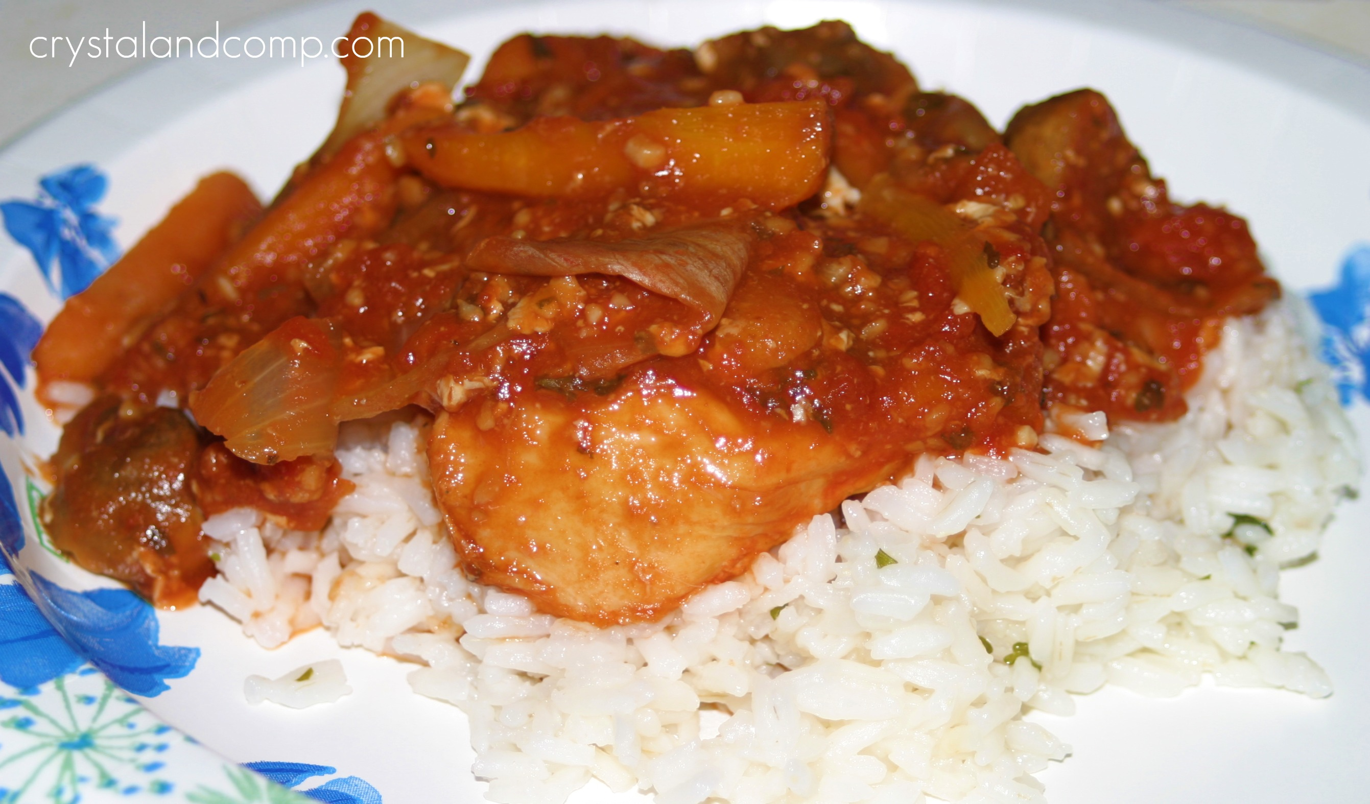 Easy Chicken Cacciatore in the Crockpot