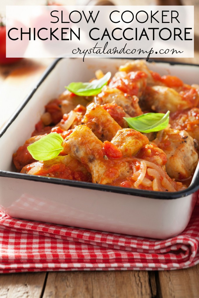 Easiest Ever Slow Cooker Chicken Cacciatore