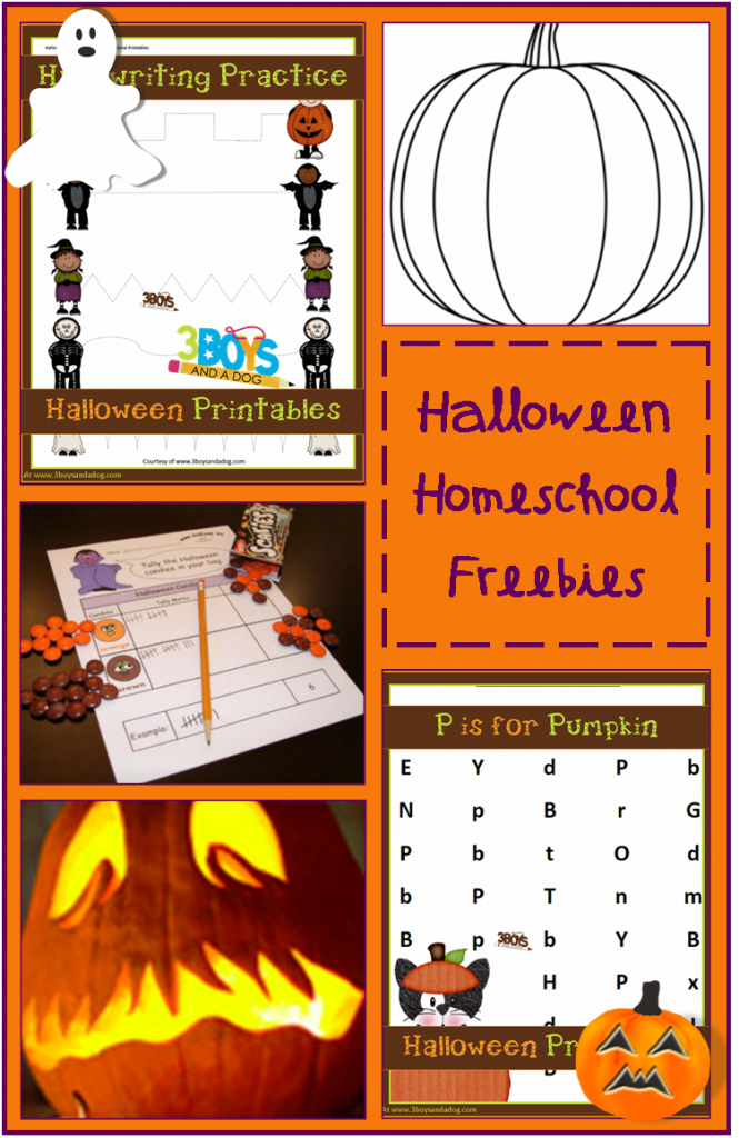 Halloween Homeschooling Freebies