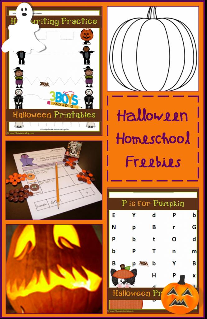 Halloween Homeschooling Freebies