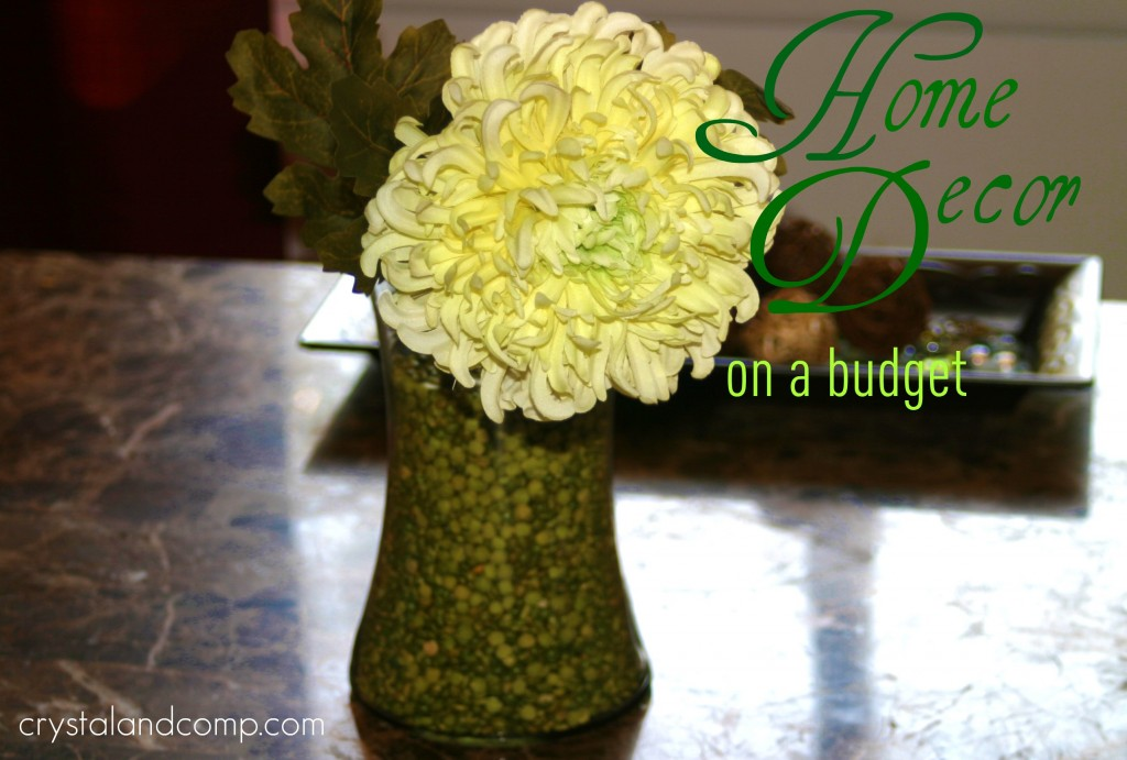 Home decor on a budget inexpensive center piece for Home decor on a budget