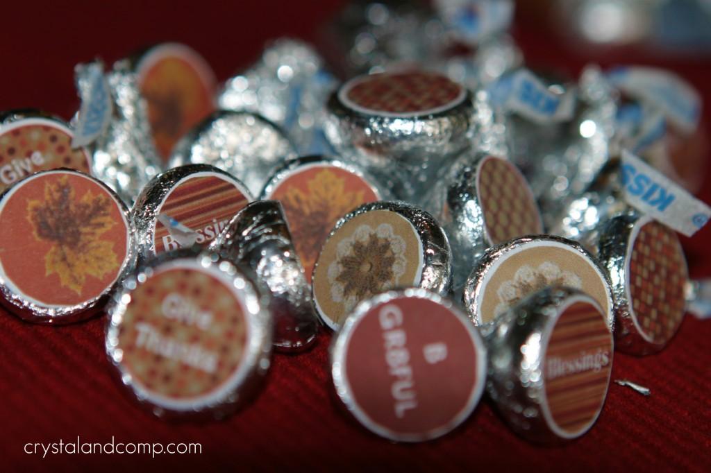 Thanksgiving Hershey's Kisses (Free Printable ...