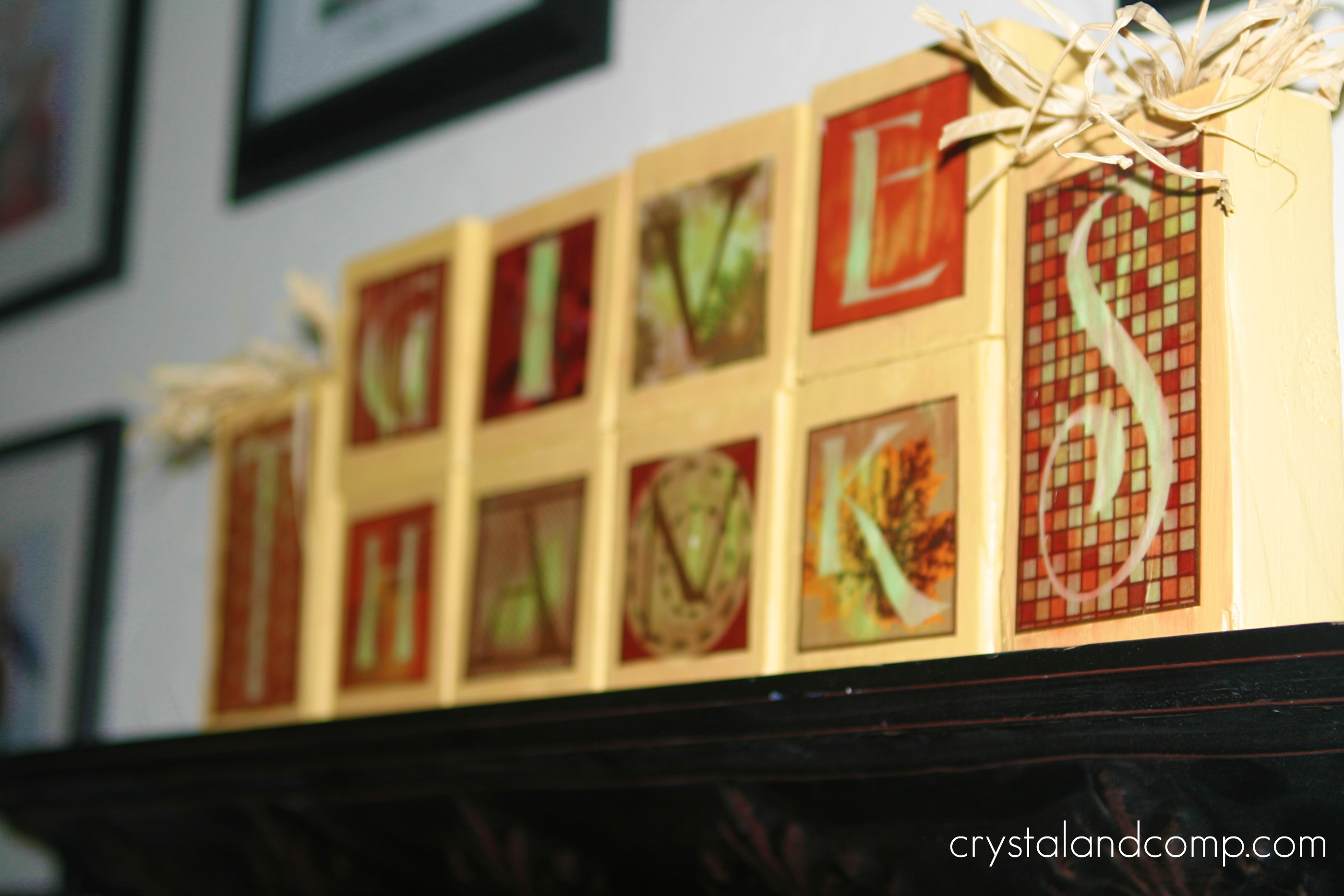 Wooden Blocks For Crafts ~ Fall craft ideas thanksgiving wooden blocks with free