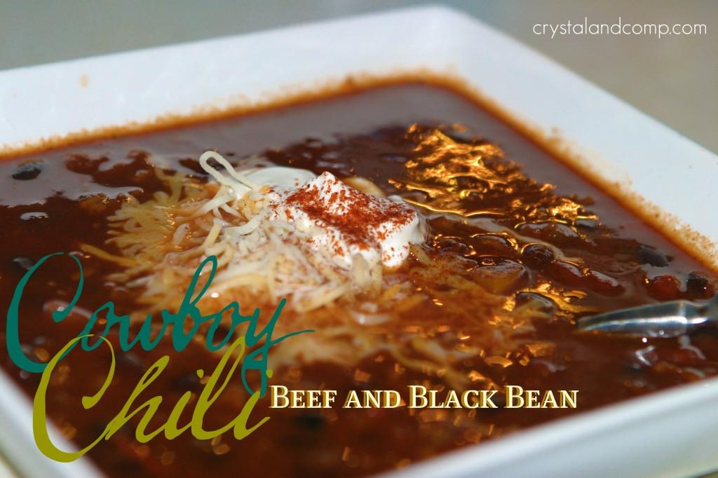 Chili Recipe: Cowboy Beef and Black Bean Chili | CrystalandComp.com