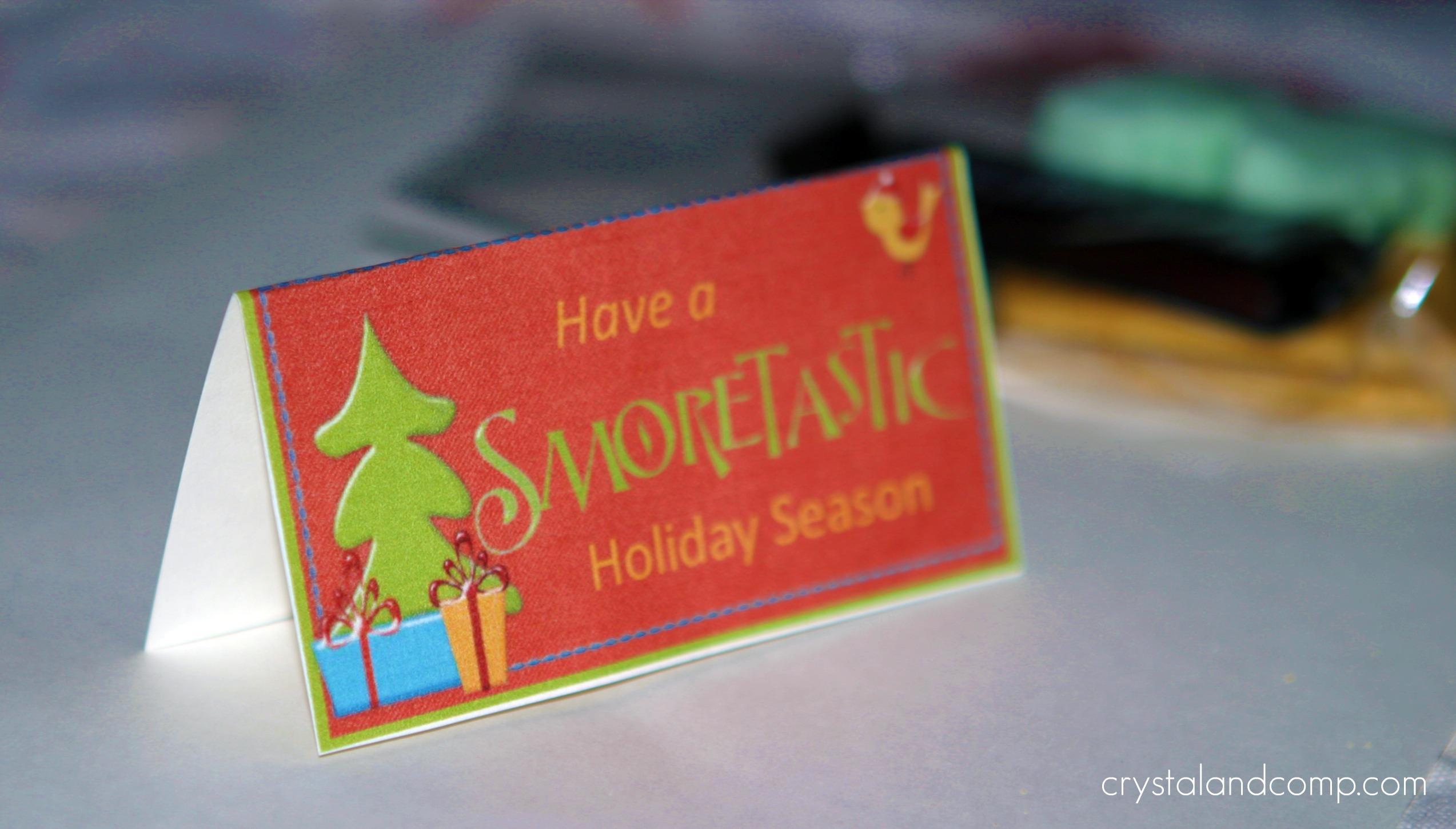 christmas crafts s more treat bag printable gather