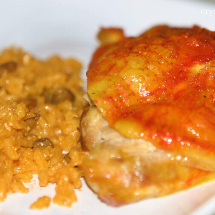Baked Puerto Rican Chicken