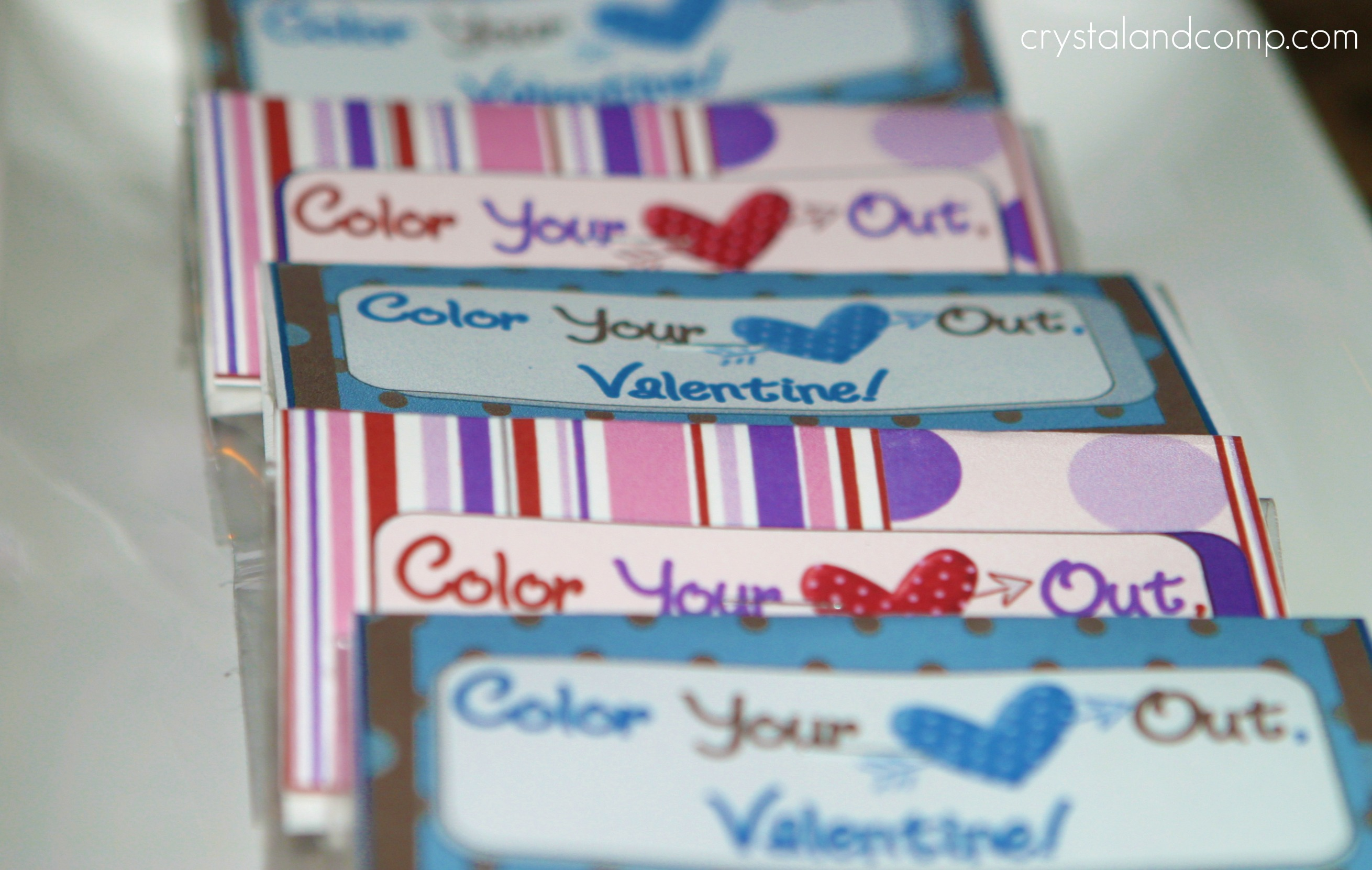 color your heart out valentine