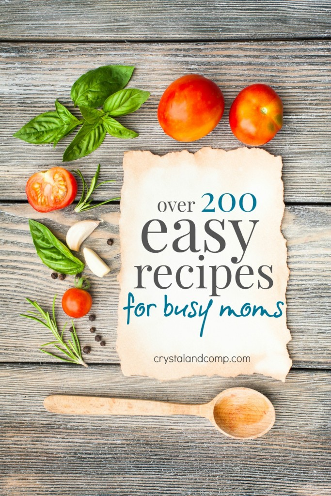 200 + easy recipes for busy moms
