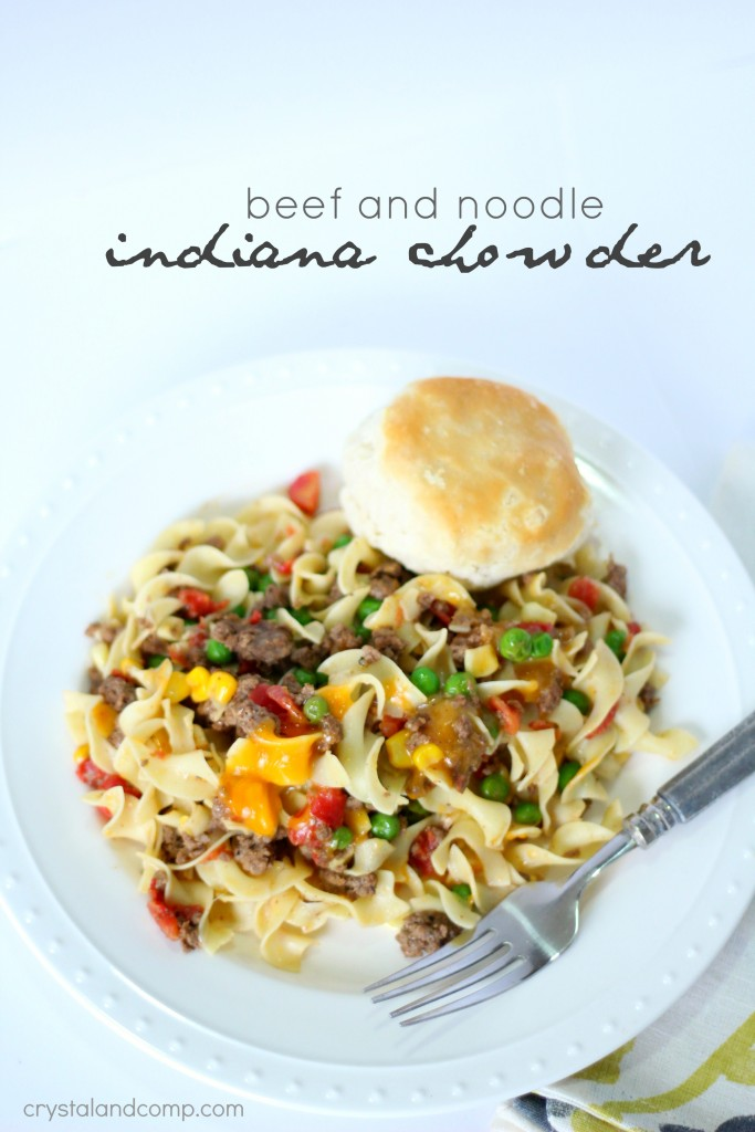 Indiana chowder a beef and noodle meal