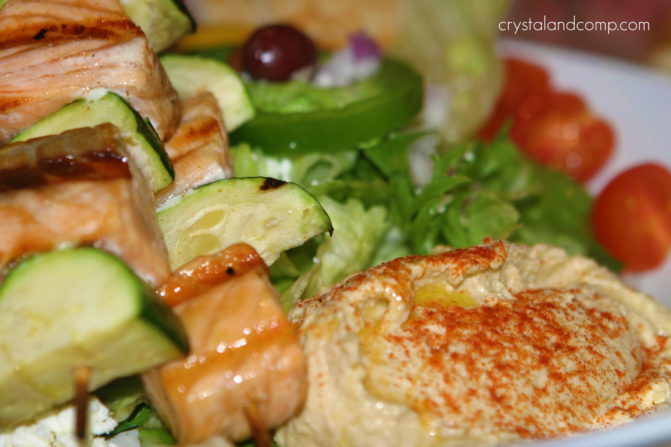 Zoes Kitchen Salmon Kabob mediterranean restaurant: $50 gift card to @zoëskitchen {giveaway
