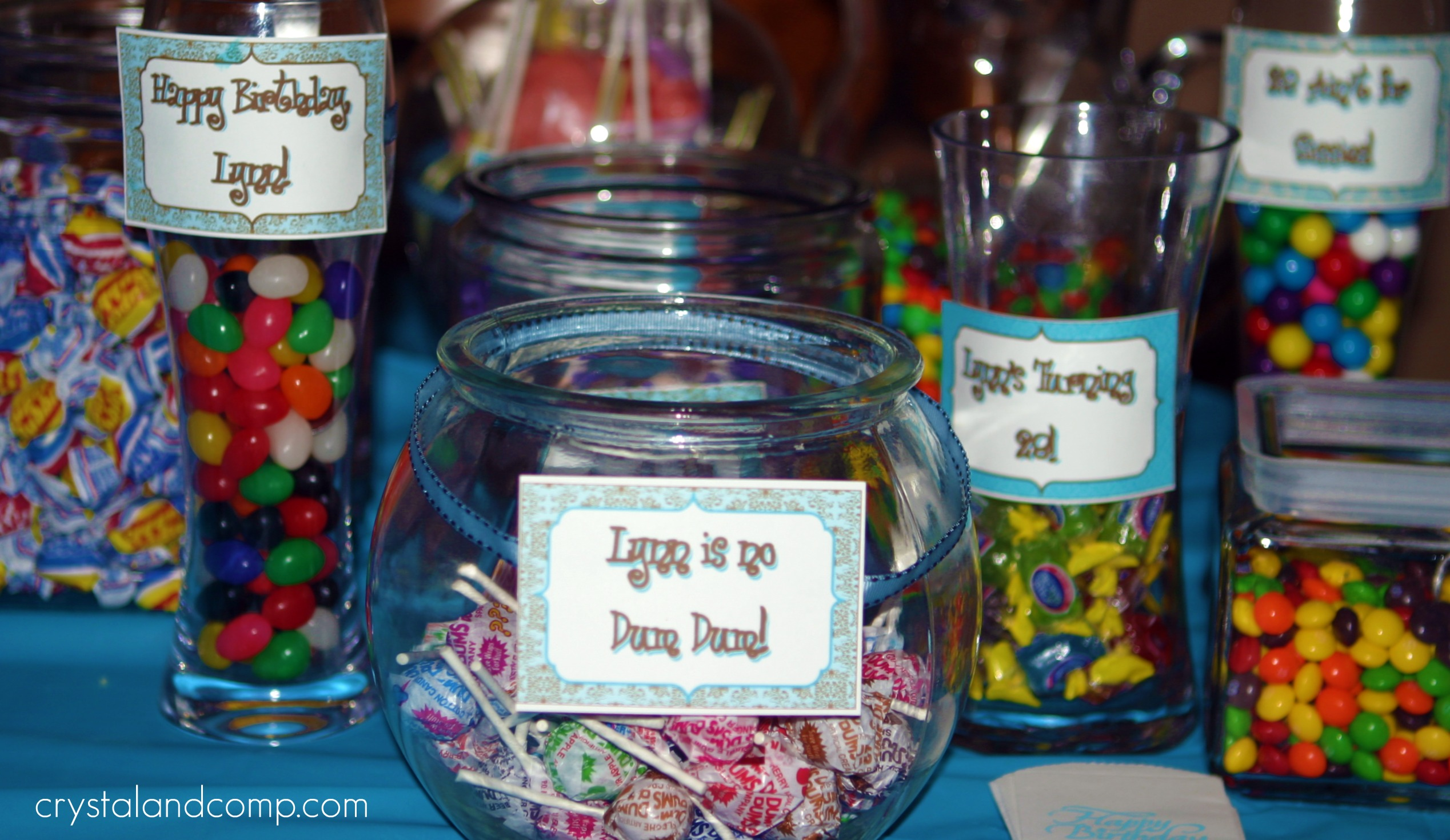 Free Printables: Tiffany Blue Candy Buffet | Crystal & Co.