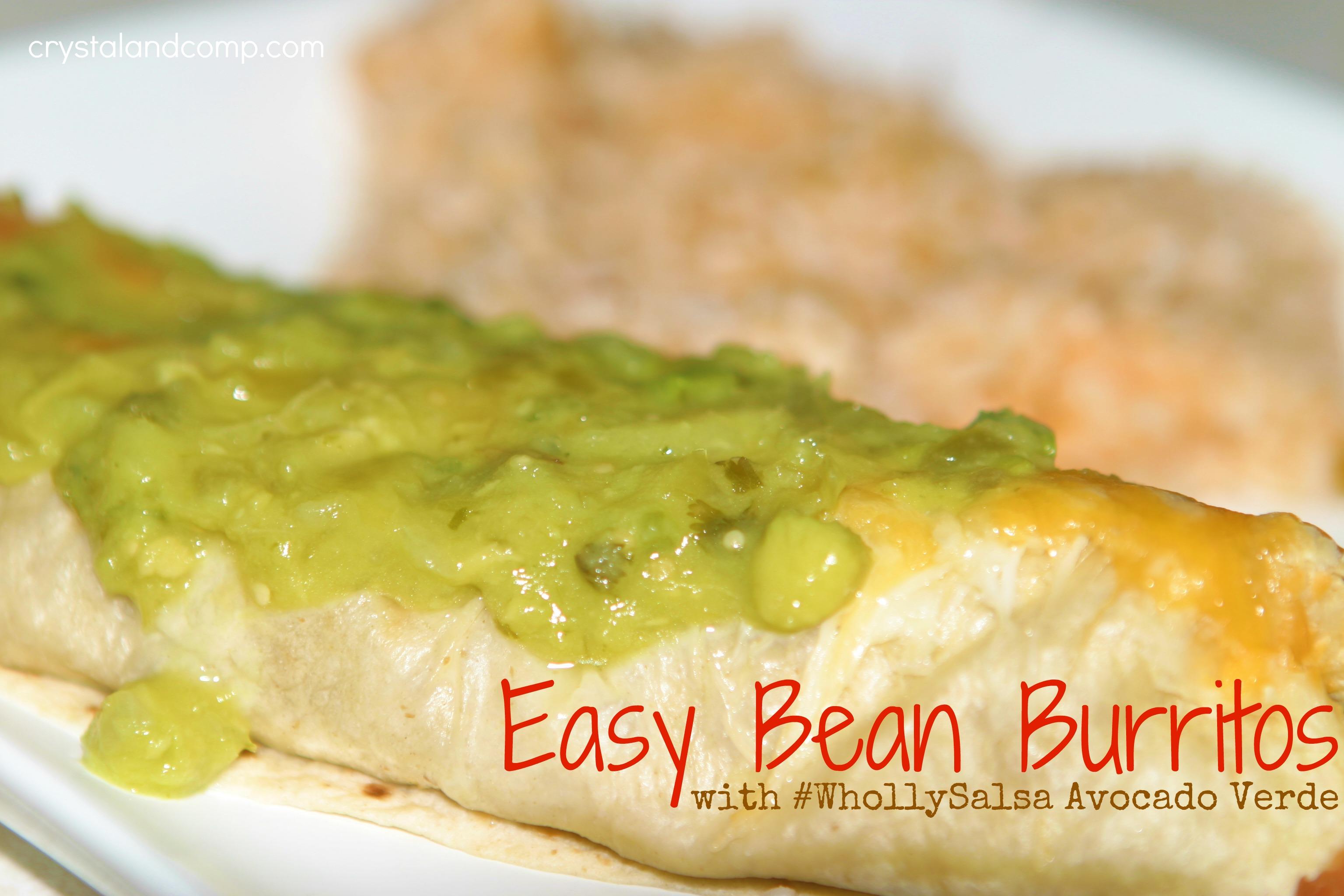 Easy Recipe: Bean Burritos with #WhollySalsa Avocado Verde Salsa ...
