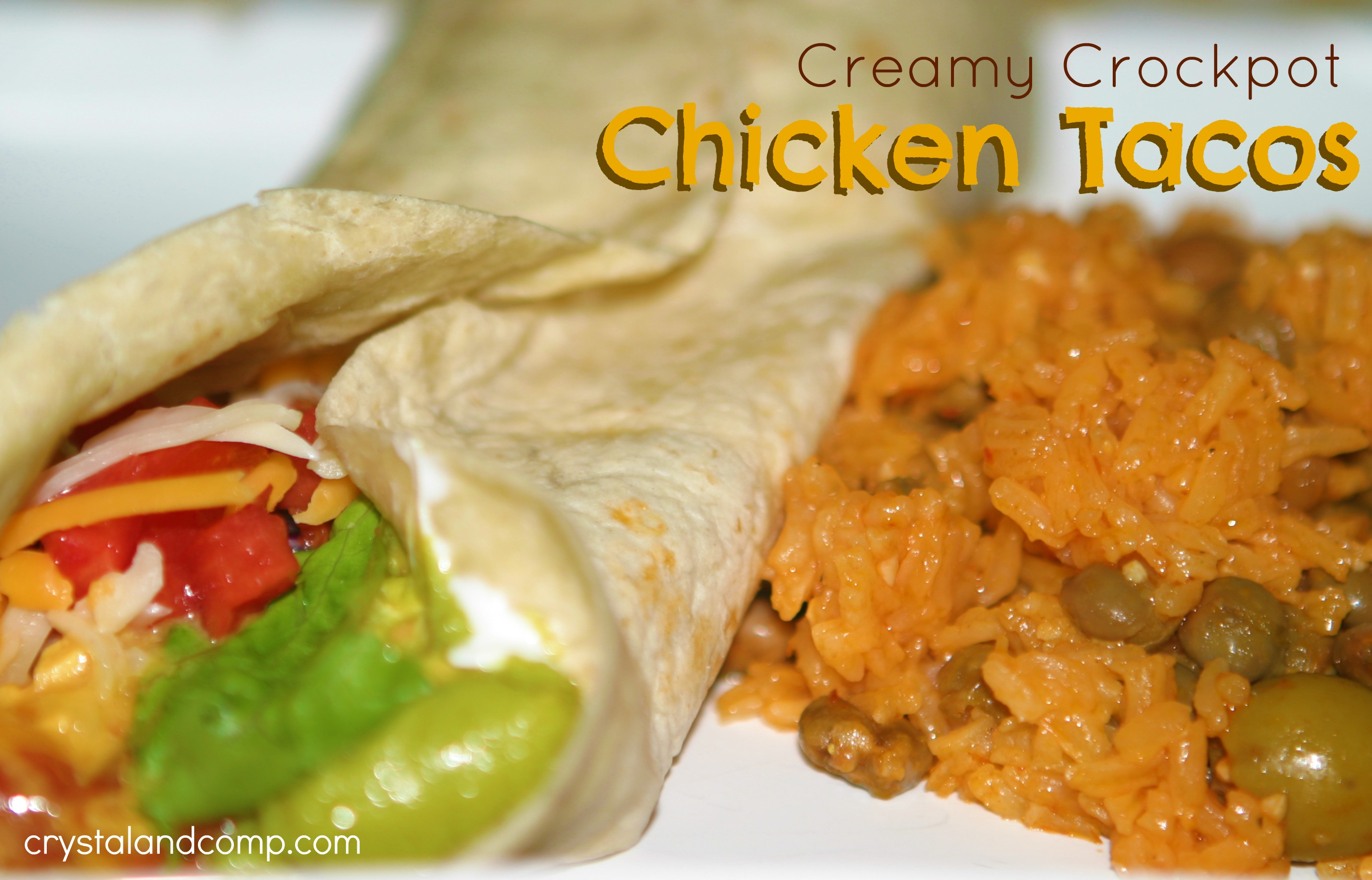 Easy Recipes: Creamy Crockpot Chicken Tacos