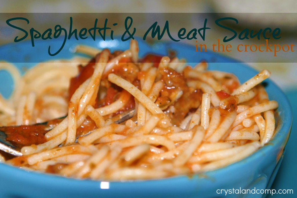 Easy Recipes: Spaghetti and Meat Sauce in the Crockpot ...