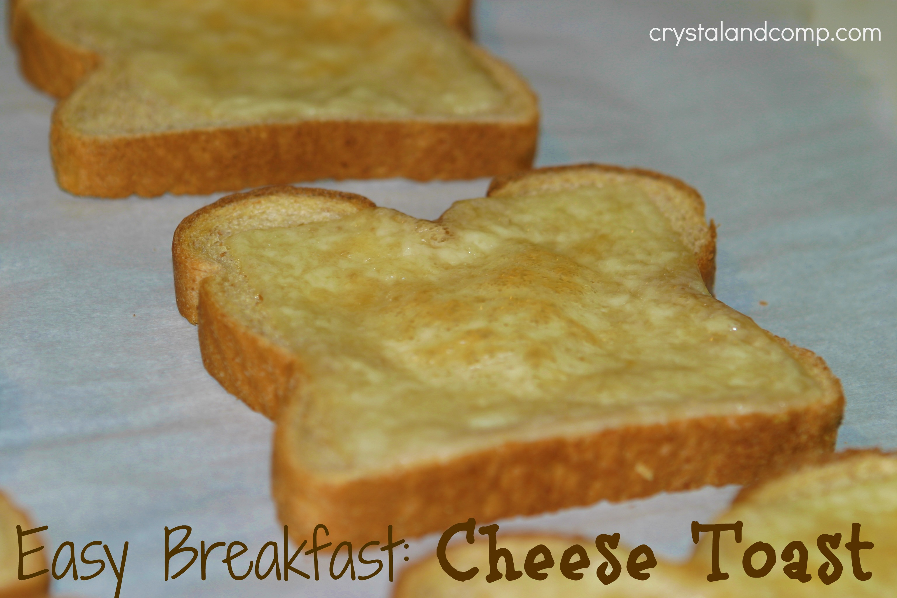 When I was in elementary school, cheese toast was a regular breakfast ...