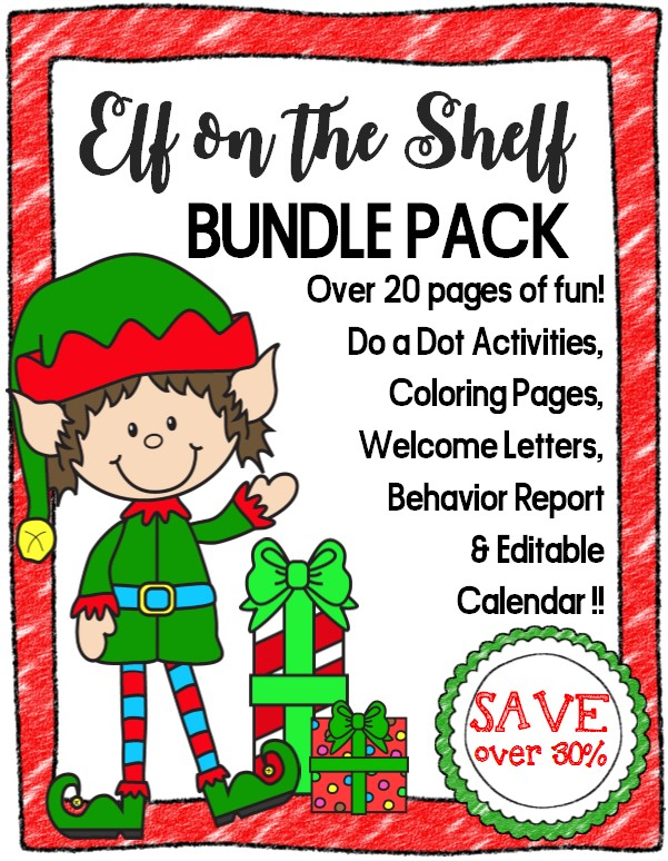 picture relating to Elf Printable Coupons known as Elf upon the Shelf Printables