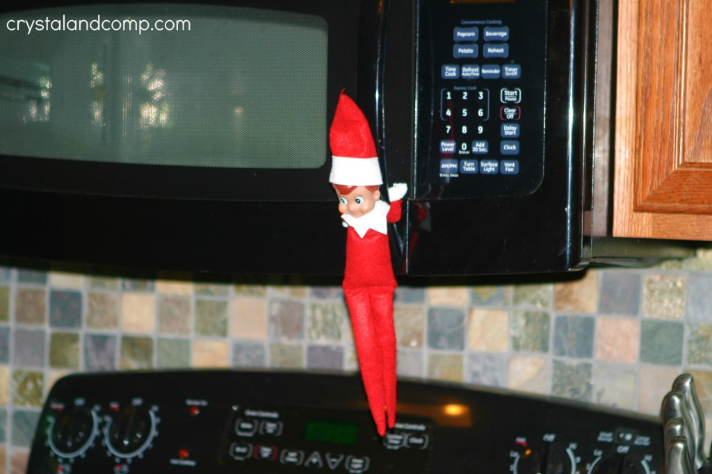 christmas eve elf on the shelf