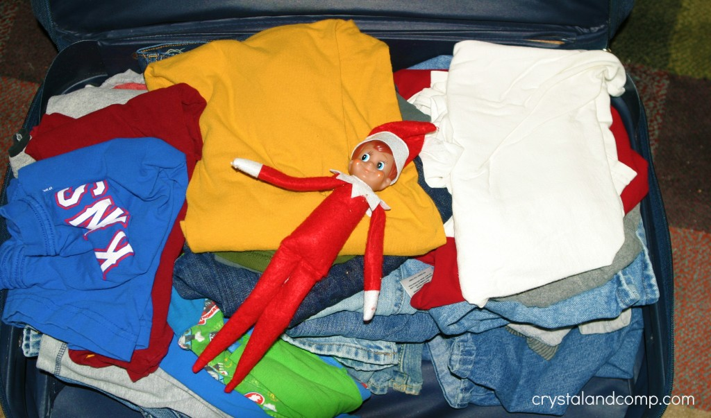 elf in the suitcase