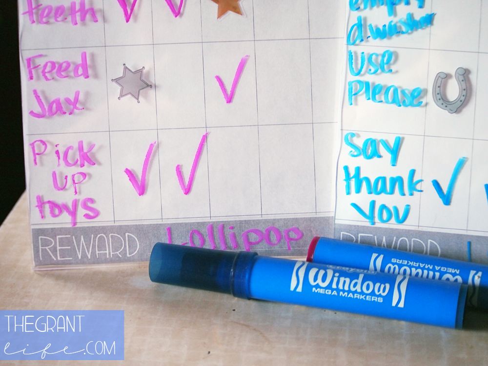 Activities for Kids - Chore Chart Using Window Markers