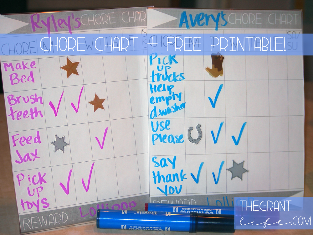 Activities for Kids - Chore Chart With Printable Cover