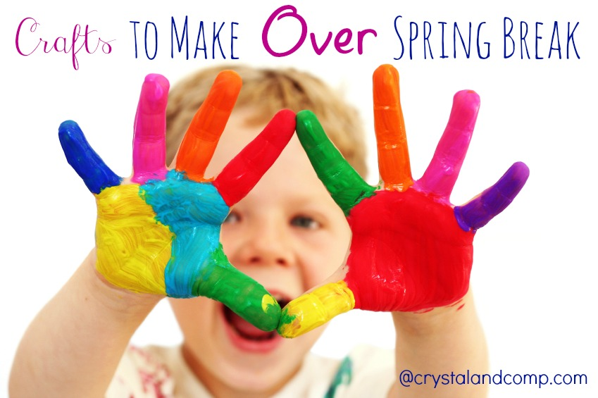 five year old boy with hands painted in colorful paints ready for hand prints - Spring Pictures For Kids
