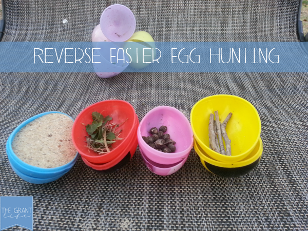 Activites for Kids - Easter activity - reverse easter egg hunt