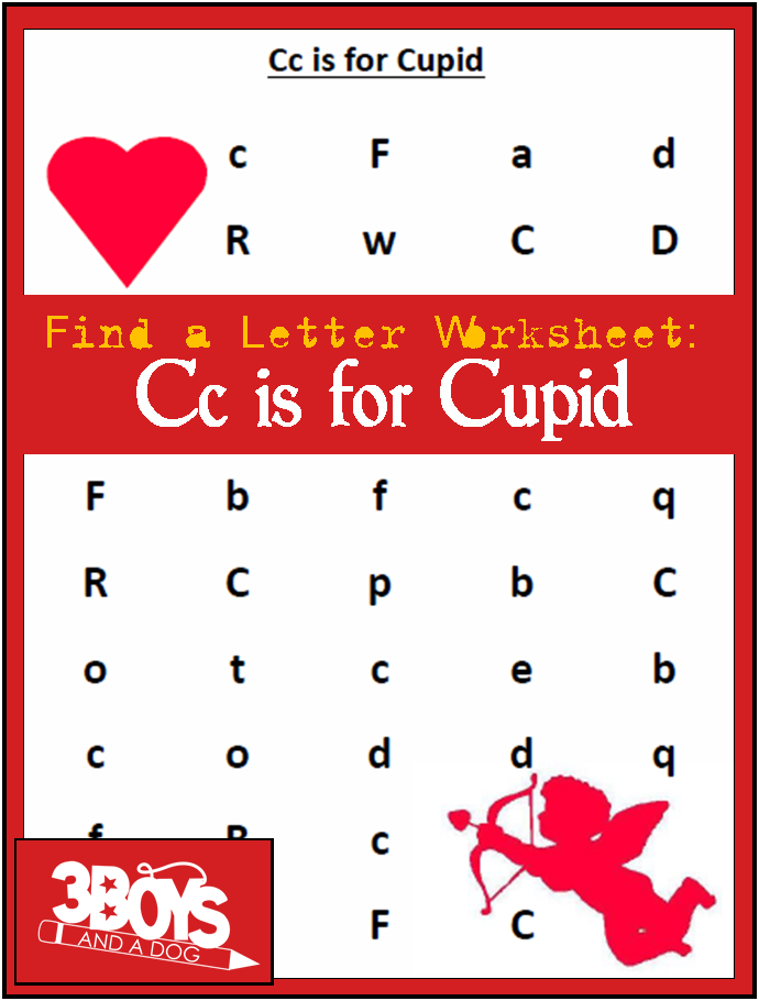 Find-the-Letter-C-is-for-Cupid