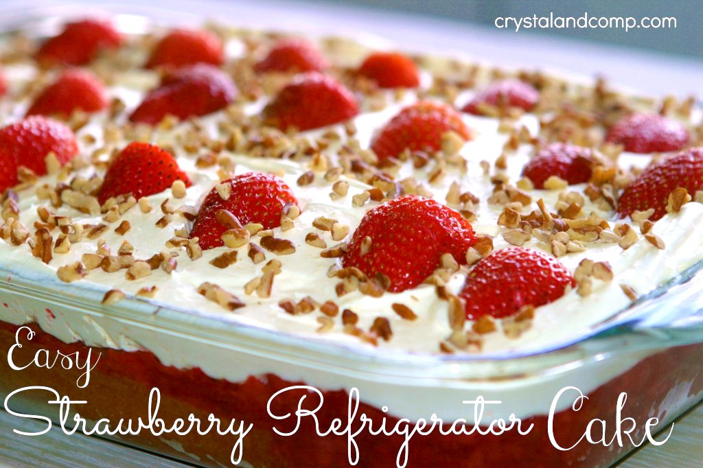 Easy Recipes Strawberry Refrigerator Cake CrystalandCompcom