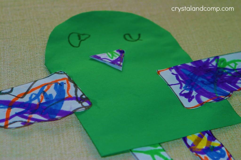 literature pockets for preschool little bird craft
