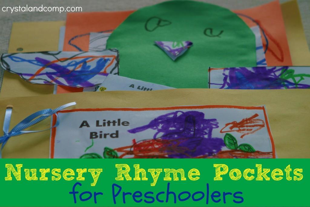 nursery rhyme pockets for preschoolers
