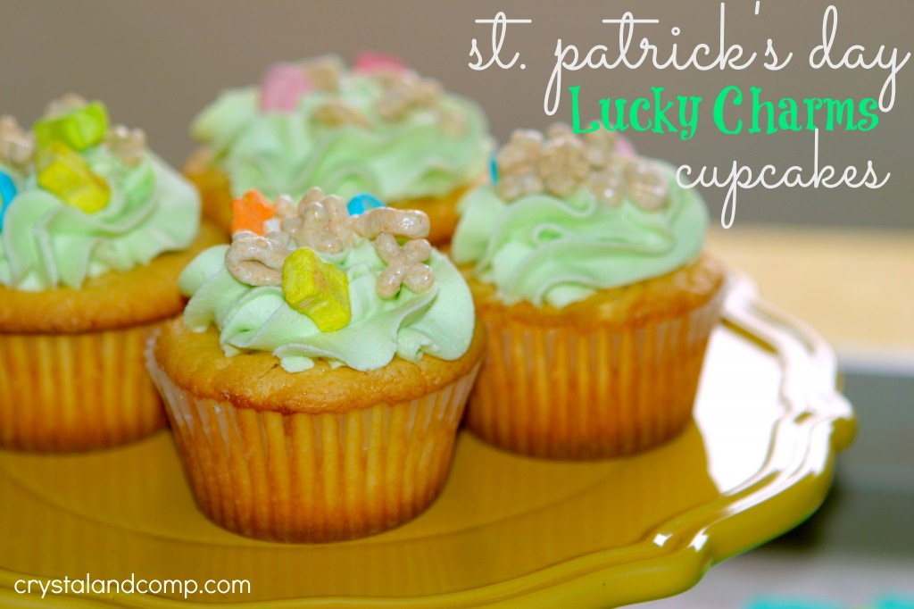 st patricks day lucky charms cupcakes