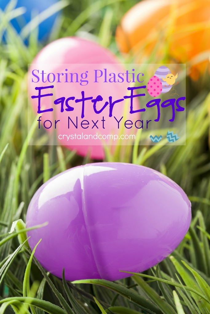 storing plastic Easter eggs for next year