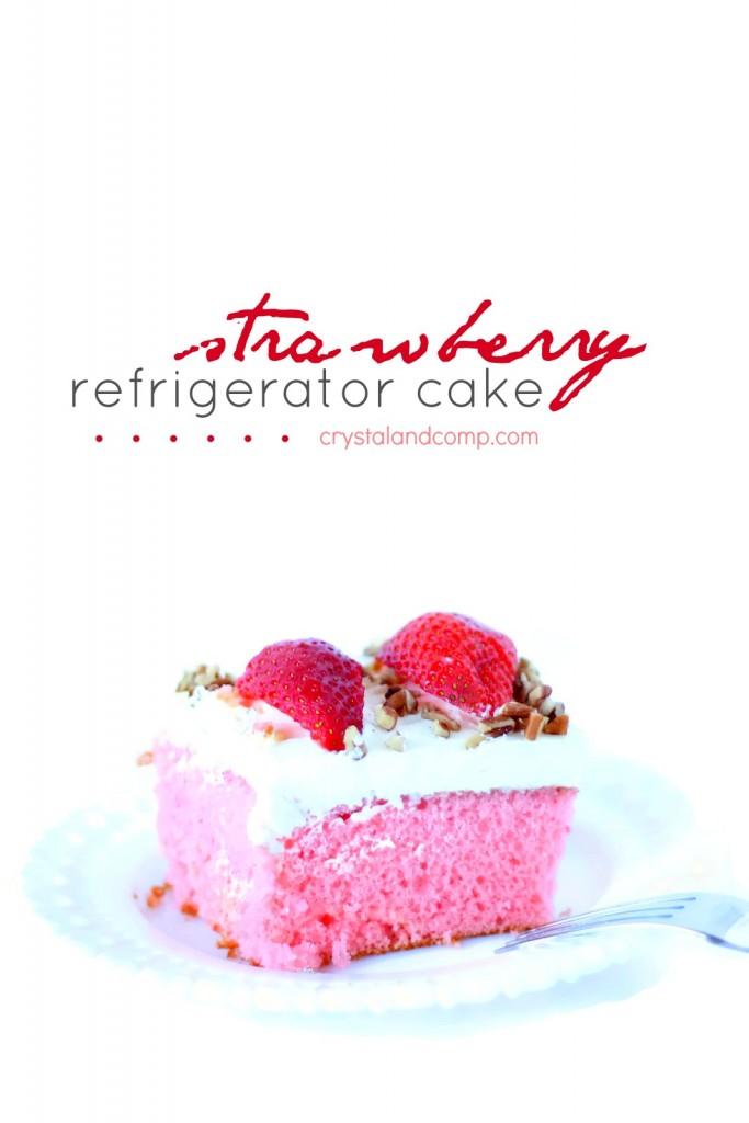 how to make a strawberry refrigerator cake