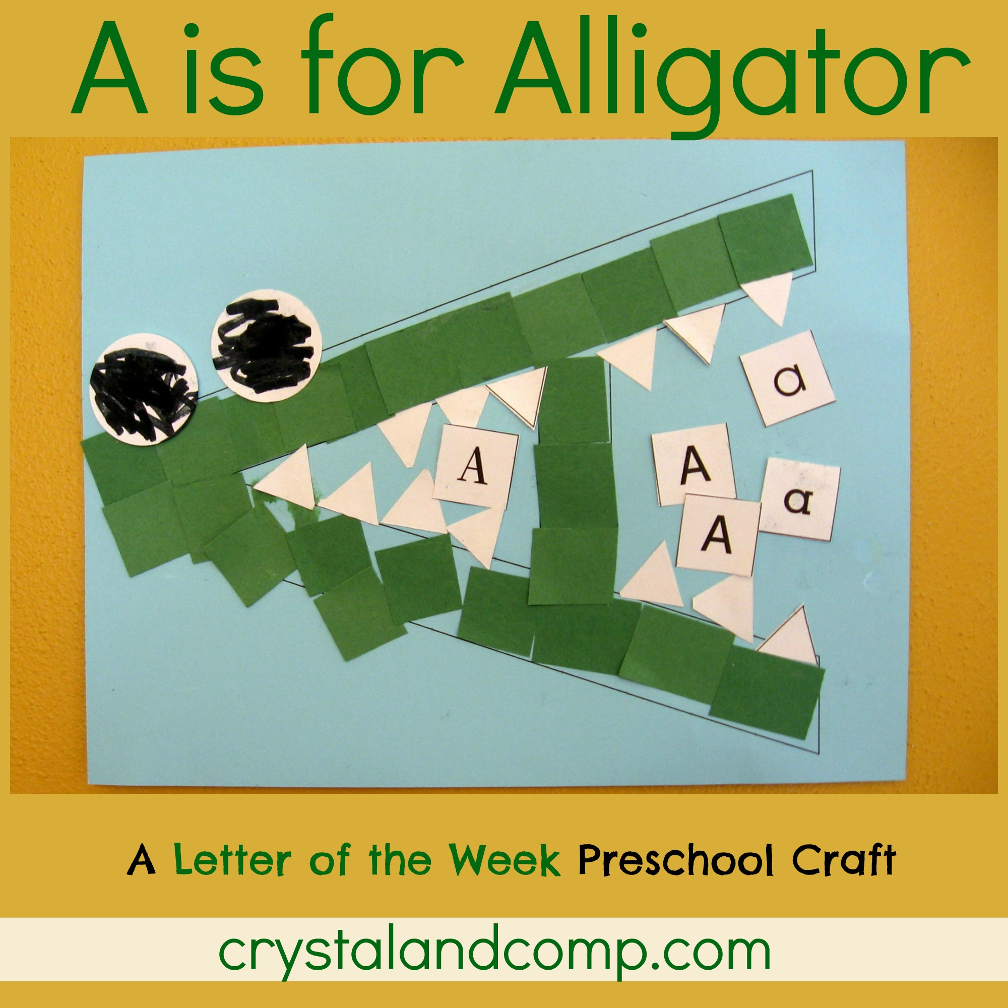 dltk craft for kids letter of the week a is for alligator - Dltk Crafts For Kids