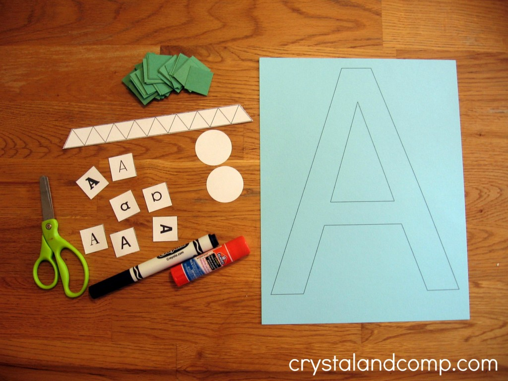 A is for alligator preschool craft (2) - crystalandcomp