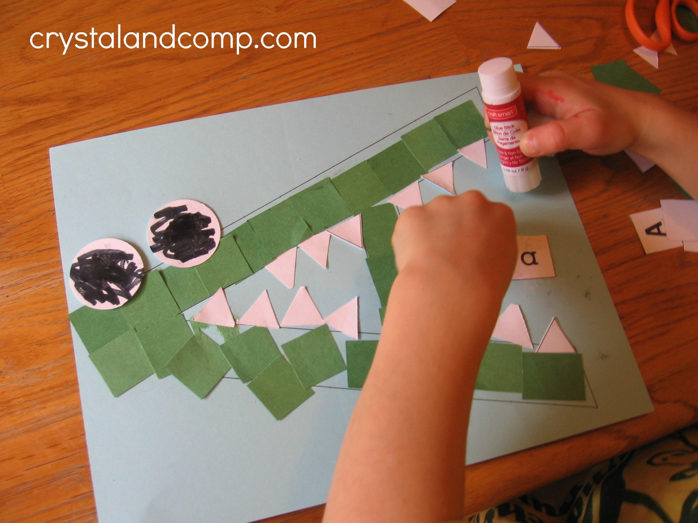 Pre k arts and crafts - A Is For Alligator Preschool Craft 9 Crystalandcomp
