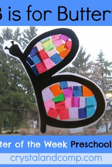 B is for Butterfly: Letter of the Week Preschool Craft