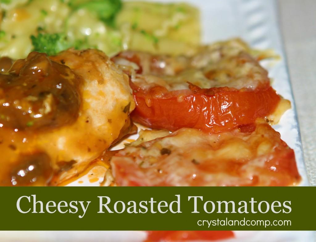 cheesy roasted tomatoes