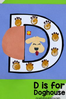 D is for Doghouse: Preschool Letter of the Week Craft