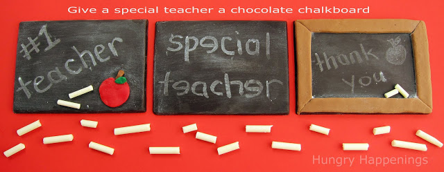 how to make a chocolate chalkboard with white chocolate chalk