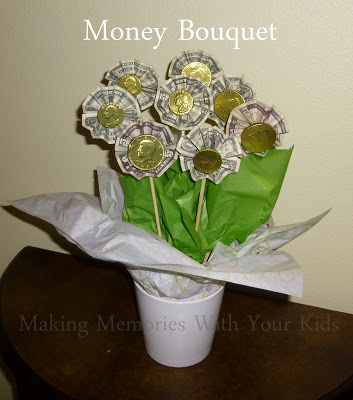 money bouquet