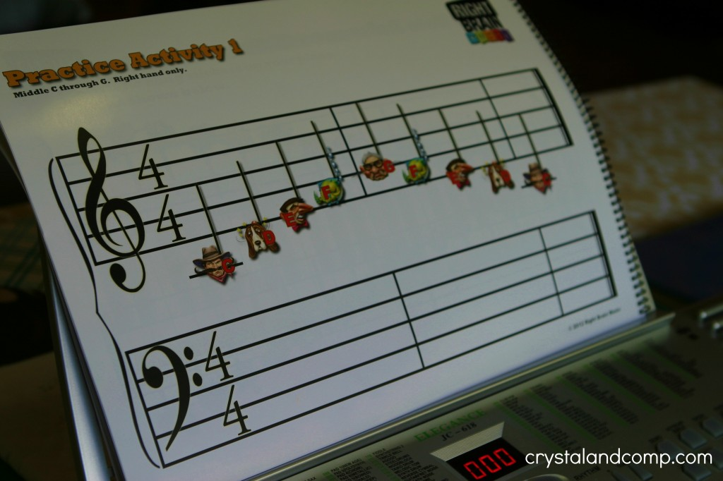 right brain music practice activity