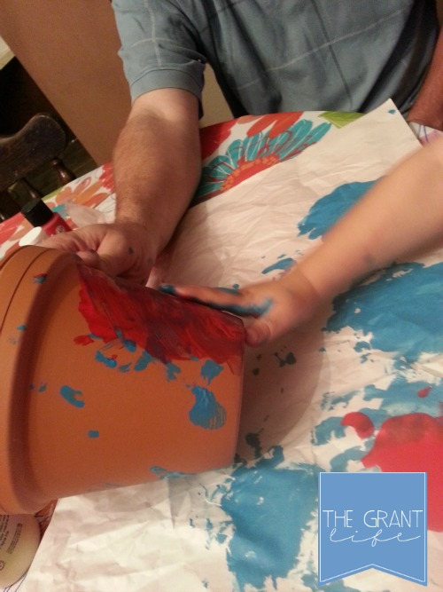 Activities for kids painting flower pots