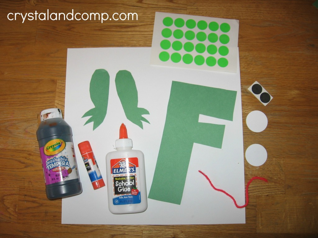 letter of the week craft F is for Frog
