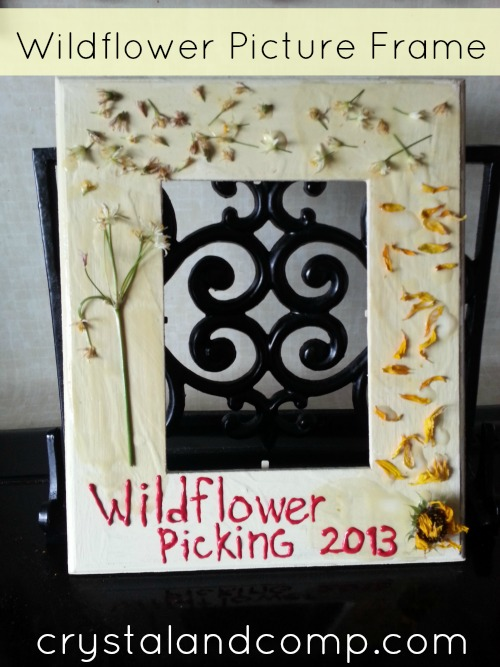 Summer Activities for Kids:  Make a Wildflower Picture Frame