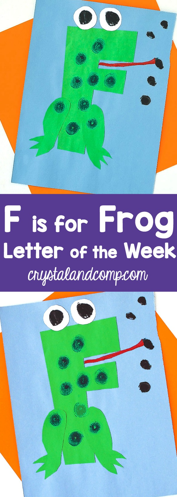 Letter Of The Week Step By Tutorial Craft F Is For Frog