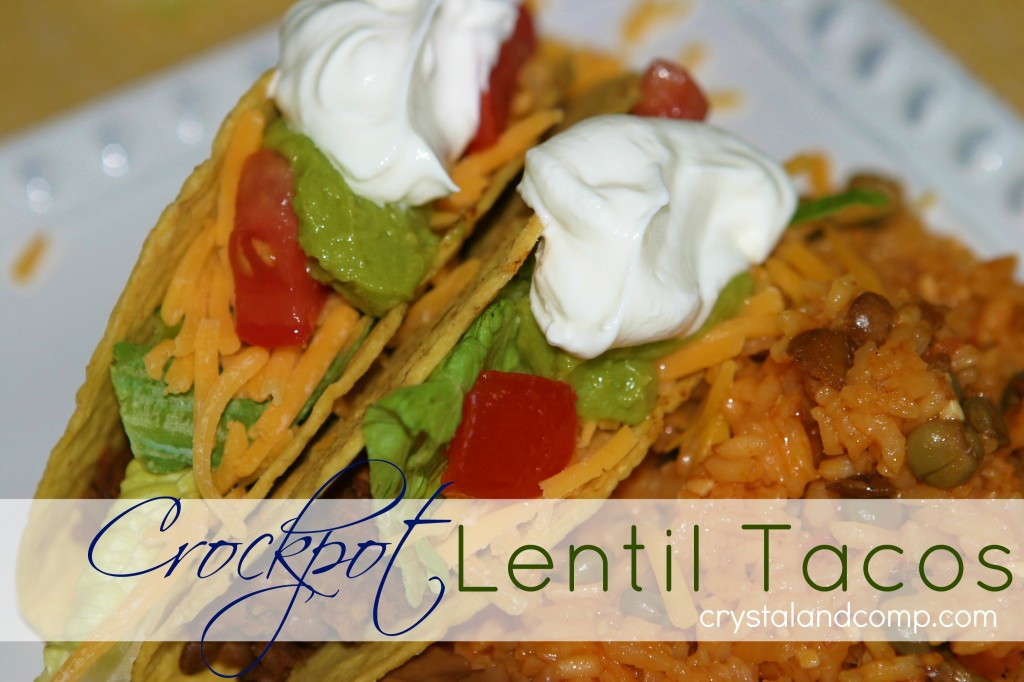 how to make lentil taco filling in the crockpot